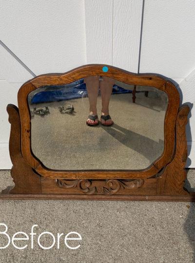 $5 Barn Sale Mirror Makeover