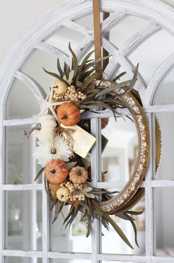DIY Fall Frame Wreath