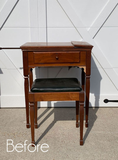 How to Turn a Sewing Machine Table into a Dressing Table