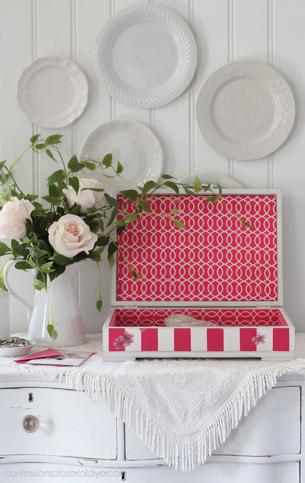 Line a box with fabric