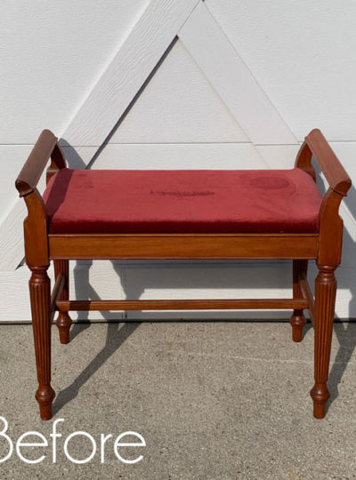 Painted Dressing Table Bench