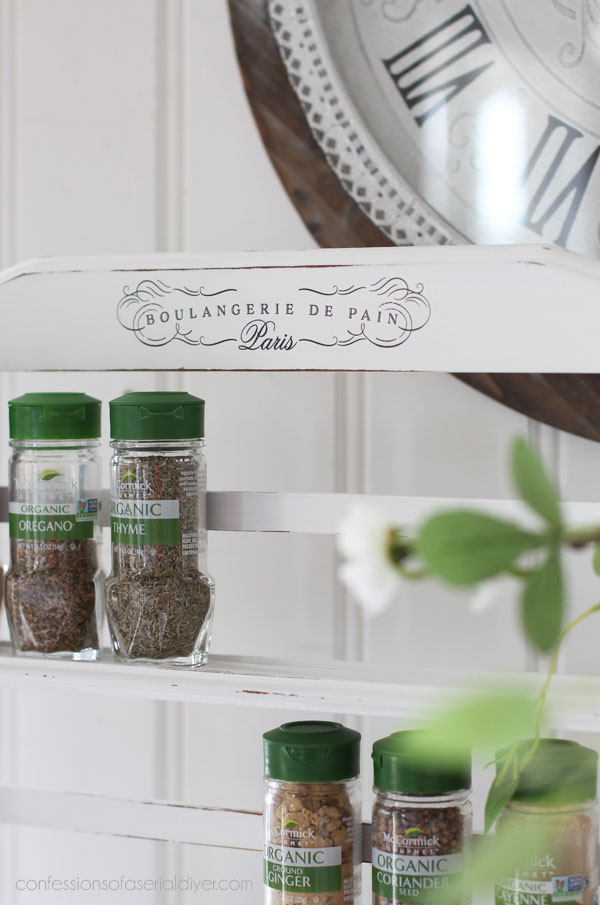 Painted spice rack