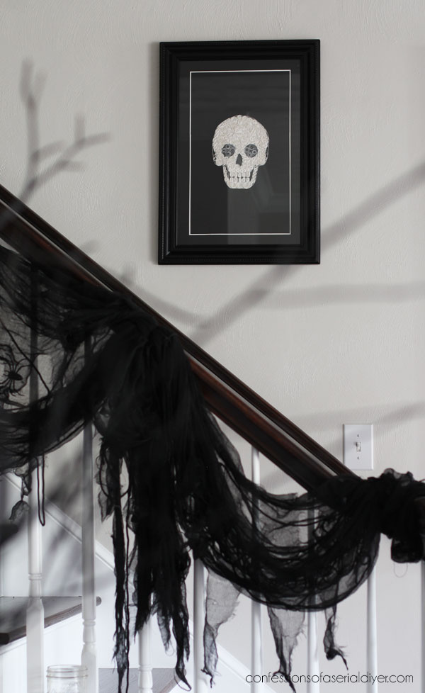 Quilled Skull Art