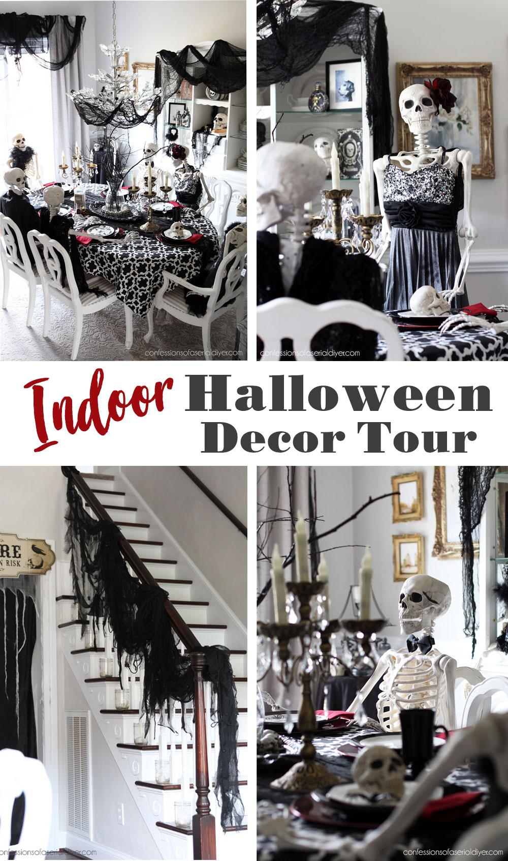Indoor Halloween Decor: a Skeleton Dinner Party!