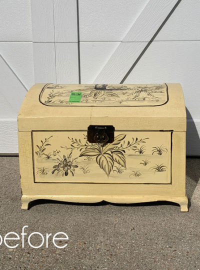 Chest Makeover with Transfer & Decoupage Paper