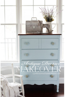 Coastal Cottage Hutch Makeover  Confessions of a Serial